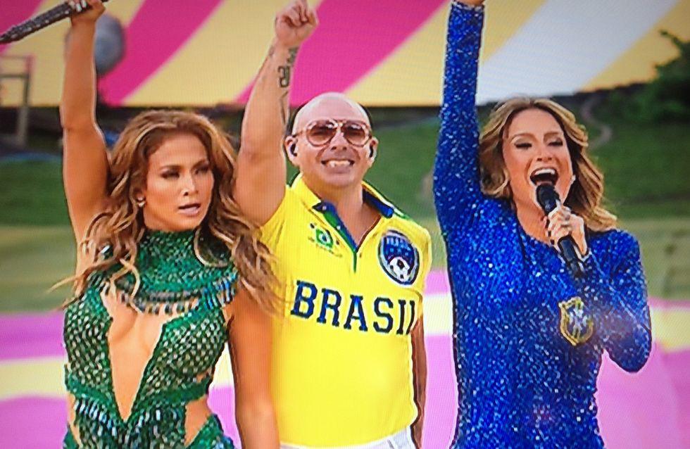 Coupe du Monde : Jennifer Lopez, Pitbull et Claudia Leitte enflamment le Brésil (Photos)