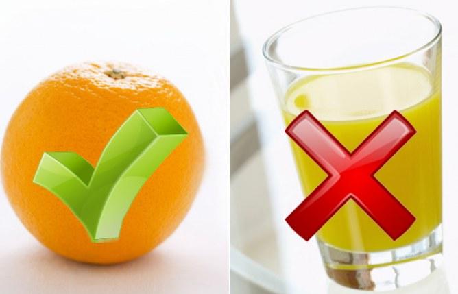 Clean Eating: Frische Orangen oder frisch gepresster Saft statt Orangensaftkonzentrat