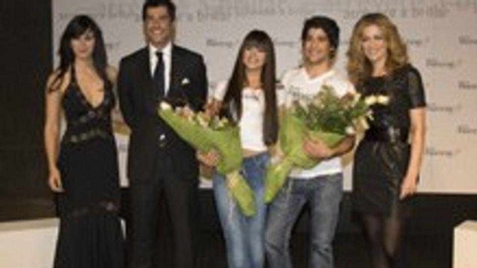 Jaydy Mitchel y Fabiola Martínez en la final de Pelo Pantene' 07