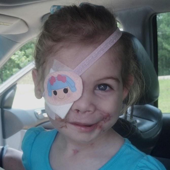 Victoria, défigurée à seulement trois ans