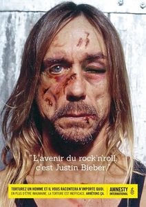 Iggy Pop dans la nouvelle campagne choc d'Amnesty International contre la torture