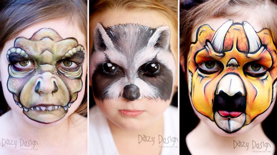 Quando il viso si trasforma in tela: ecco come si divertono mamma e figlie