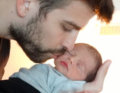 Gerard Piqué et son fils Milan