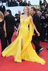 Uma Thurman et Quentin Tarantino à Cannes