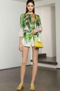 Tenue Longchamp imprimé tropical