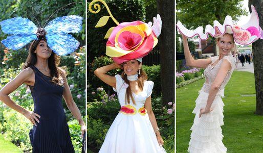 Alcuni dei cappelli più stravaganti presenti all'evento