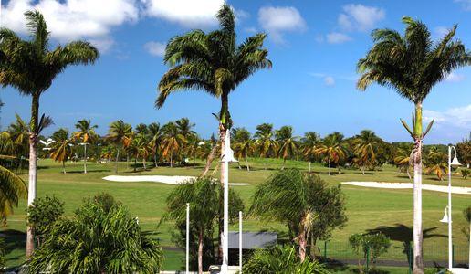 Vue sur le golf au Bwa Chik Hôtel & Golf