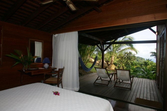 Chambre avec vue au Jardin Malanga