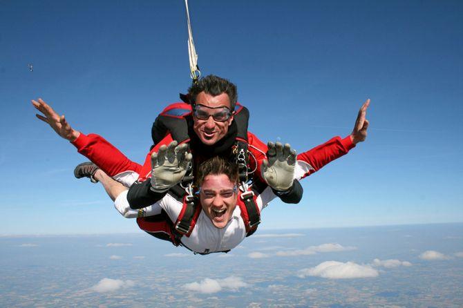 Saut en parachute avec Wonderbox