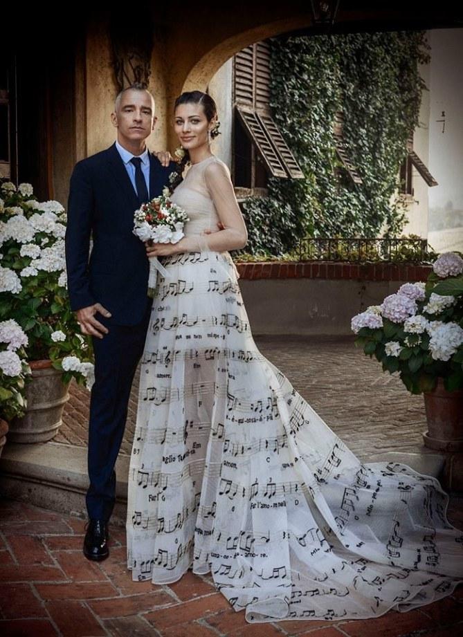 Eros Ramazzotti e Marica Pellegrinelli nel giorno delle nozze