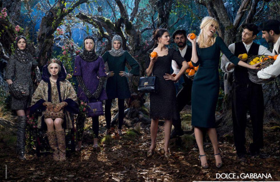Claudia Schiffer : À 43 ans, elle reprend du service pour Dolce et Gabbana (Photos)