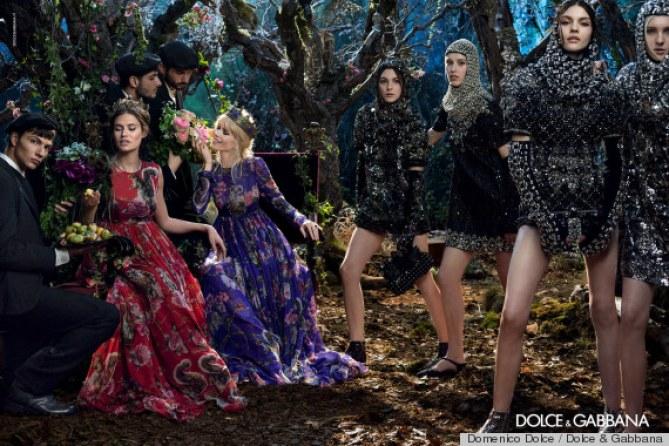 Claudia Schiffer pour Dolce & Gabbana