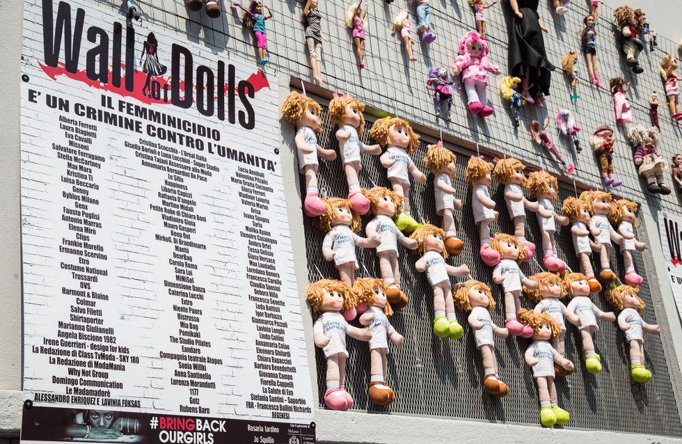 Un muro di bambole per combattere la violenza sulle donne