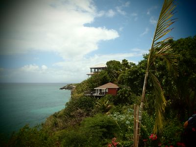 Les bungalows surplombant la baie