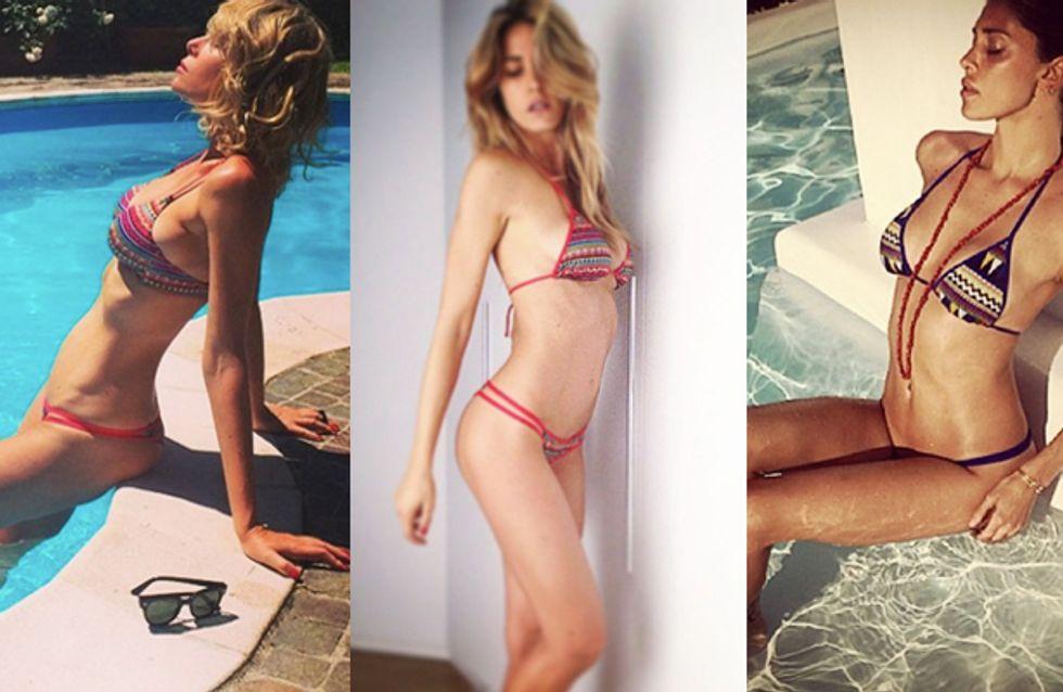 Alessia Marcuzzi ed Elena Santarelli sfoggiano i bikini realizzati da Belén. Guarda le foto!