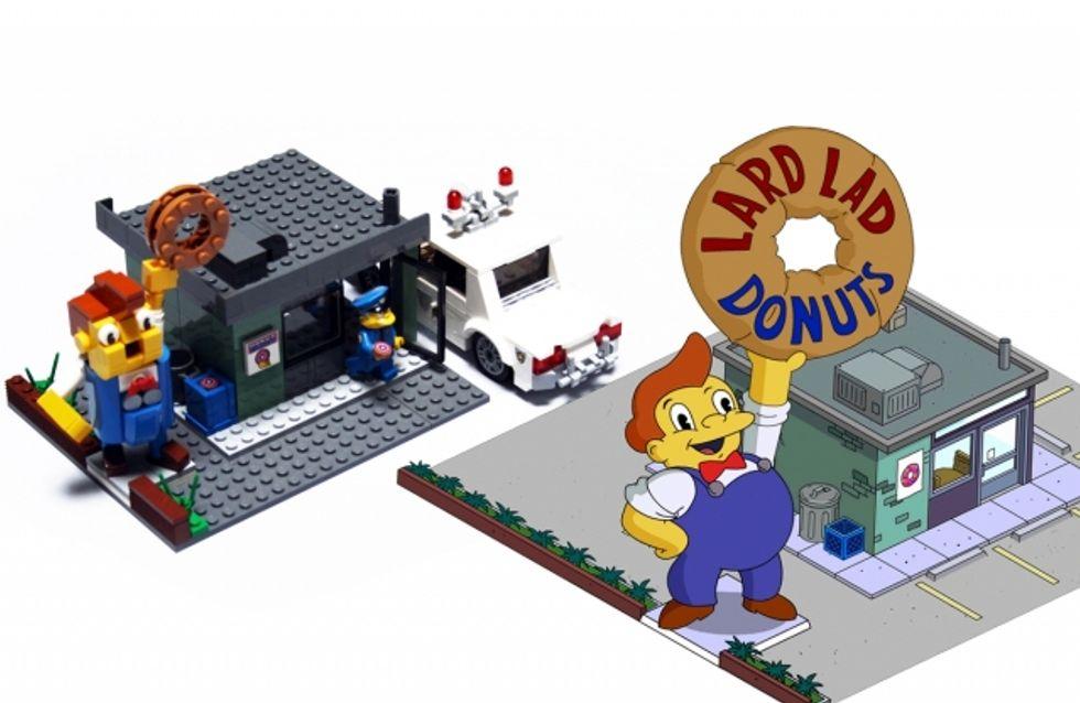 10 bâtiments de la série des Simpson reproduits en briques LEGO® !