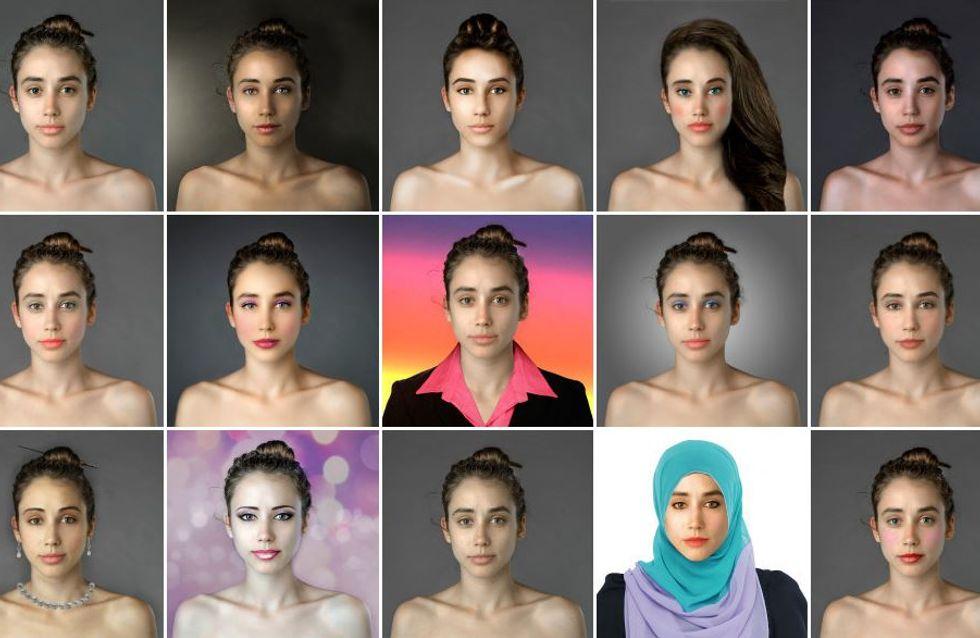 Grâce à Photoshop, elle transforme son visage selon les critères de beauté de 25 pays