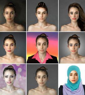 Trasforma il suo volto secondo i criteri di bellezza di 25 paesi grazie a Photos