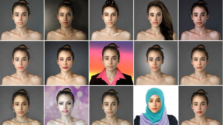 Trasforma il suo volto secondo i criteri di bellezza di 25 paesi grazie a Photoshop