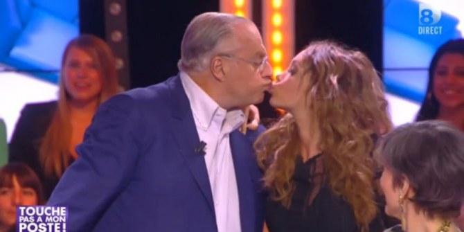 Nabilla embrasse Gérard Louvin