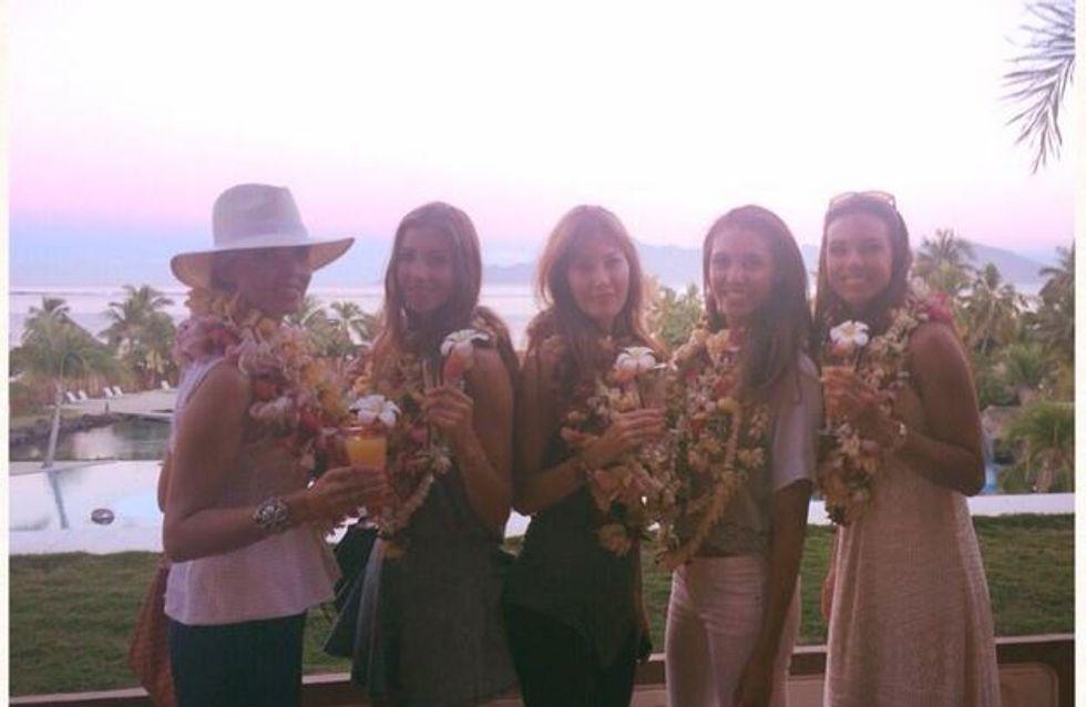 Brochette de Miss au soleil pour l'élection de Miss Tahiti