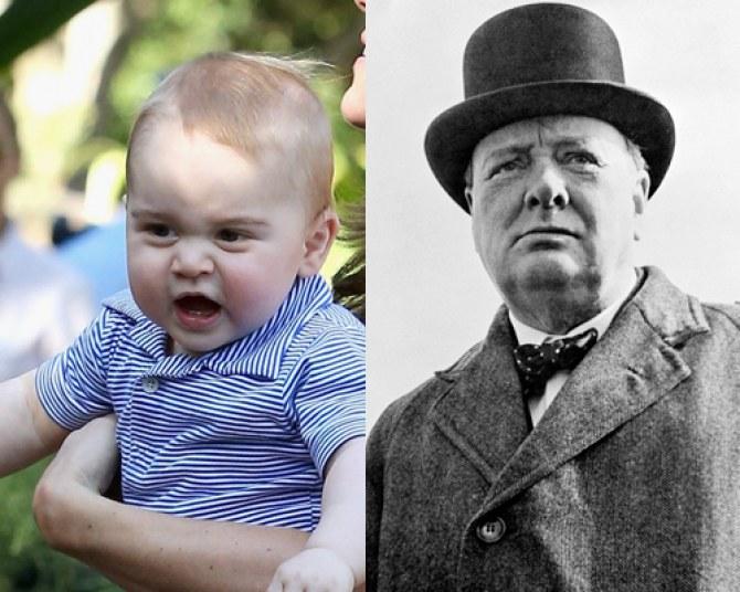 Le prince George ressemble-t-il à Winston Churchill ?