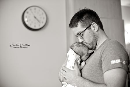 Devenir papa, les touchantes photos de Jaydene Freund