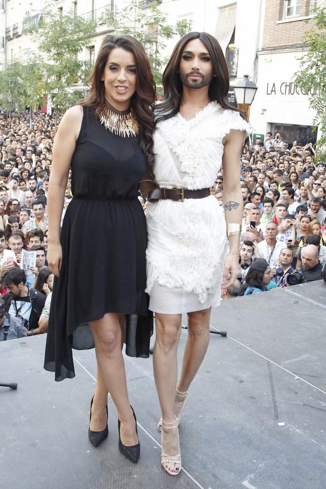 Conchita Wurst y Ruth Lorenzo
