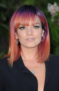 Le Rainbow Hair de Lily Allen