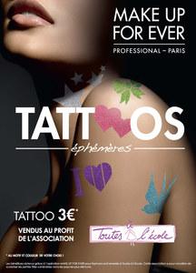 Les tatouages éphémères de Make Up For Ever