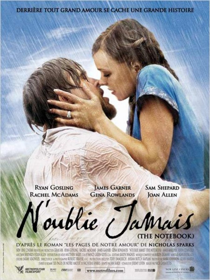 Ryan Gosling et Rachel McAdams dans The NoteBook