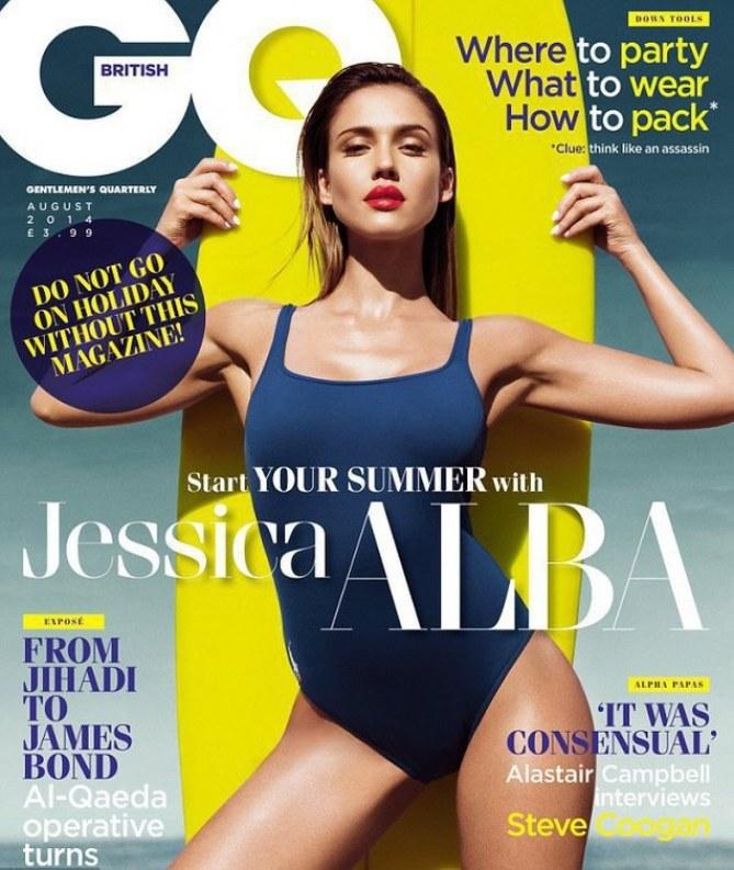Jessica Alba pour GQ UK