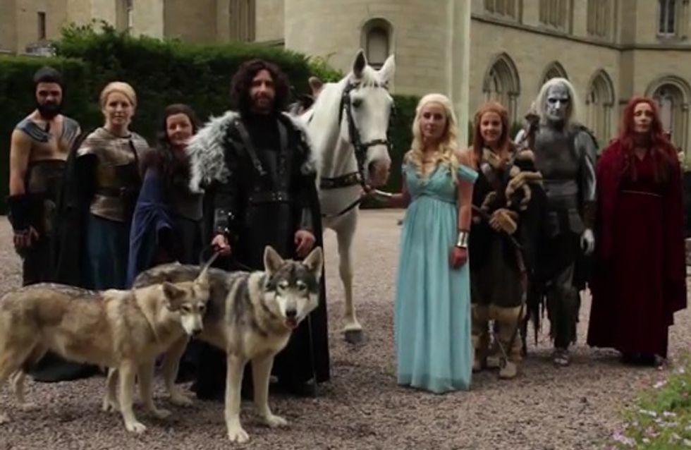 """Insolite : Fans de la série, ils s'offrent un mariage à la """"Game of Thrones"""" (Vidéo)"""