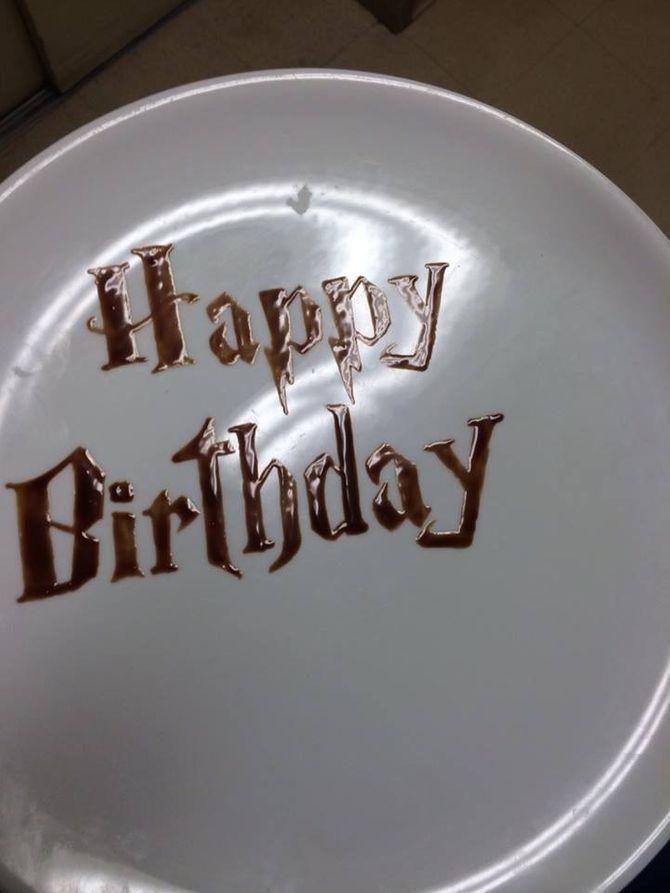 Un buon compleanno dedicato a un fan di Harry Potter