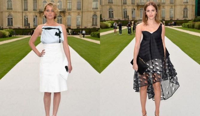 Jennifer Lawrence et Emma Watson au défilé Dior