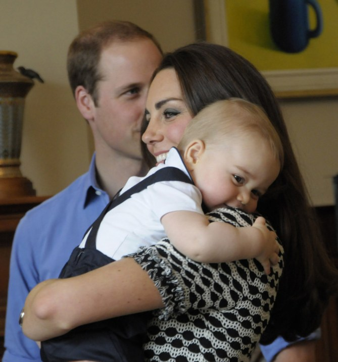 Kate Middleton, le prince William et baby George