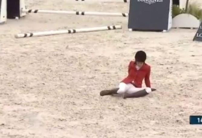 Charlène de Monaco chute de cheval