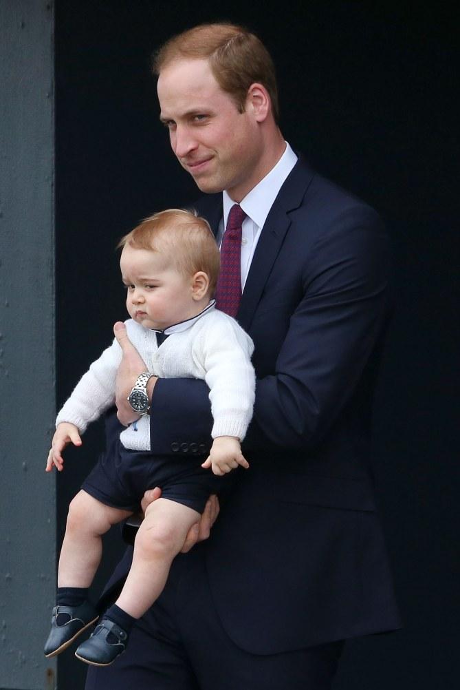 Le prince william et le prince George