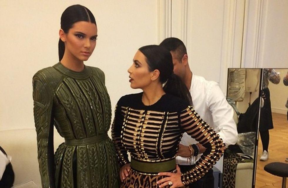 Kim Kardashian et Kendall Jenner : Un duo complice à Paris pour la Fashion Week