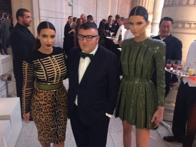 Kim, Kendall et Alber Elbaz