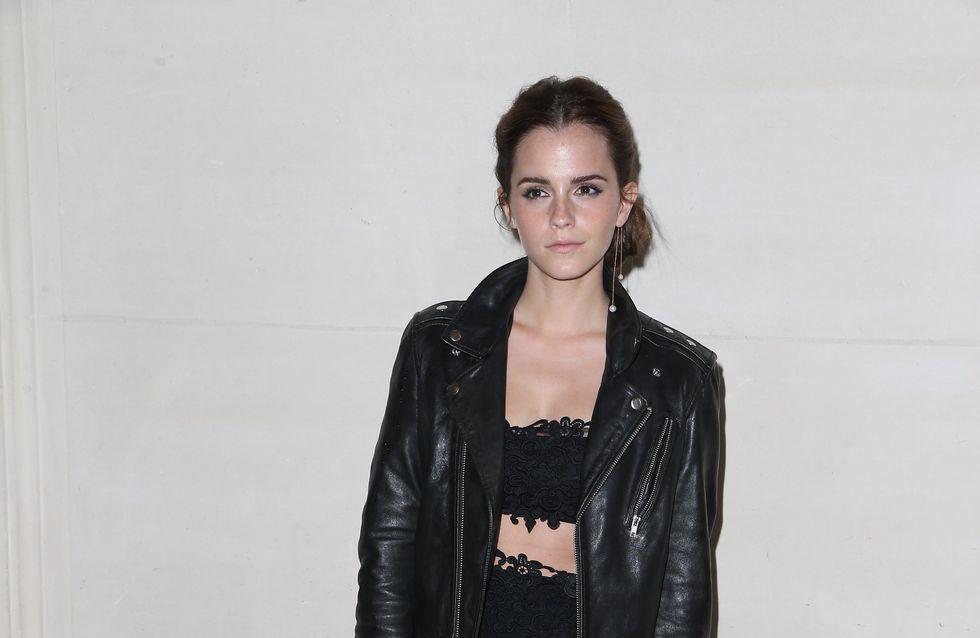 Emma Watson : Un look rock pour le défilé Valentino