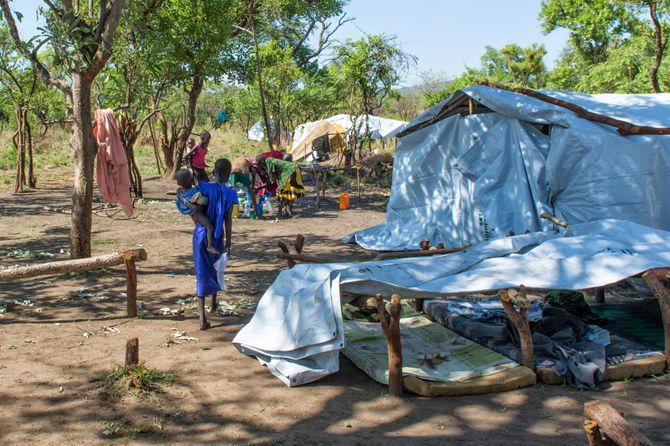 Camp de déplacés de Melijo près de la ville de Nimule (Etat de l'Equatoria de l'Est)