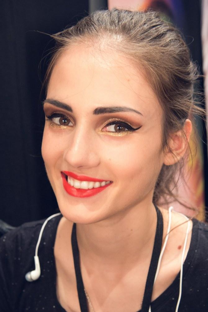Das Make-up der Show von Lena Hoschek