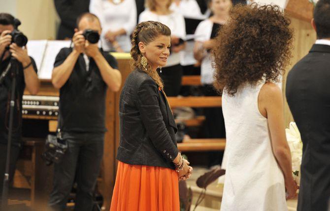 Alessandra Amoroso alle nozze della sorella Francesca