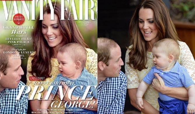 Comparación de Vanity Fair y fotografía real