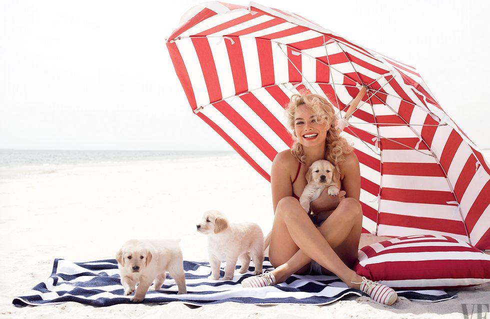 Margot Robbie : Rétro et à nouveau blonde pour Vanity Fair (Photos)