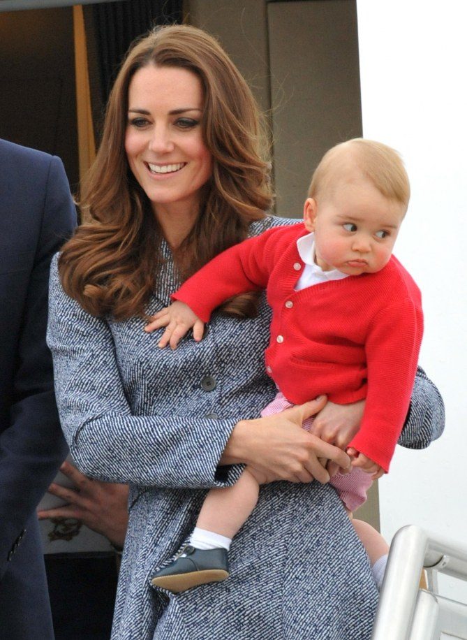 Kate Middleton con il piccolo George