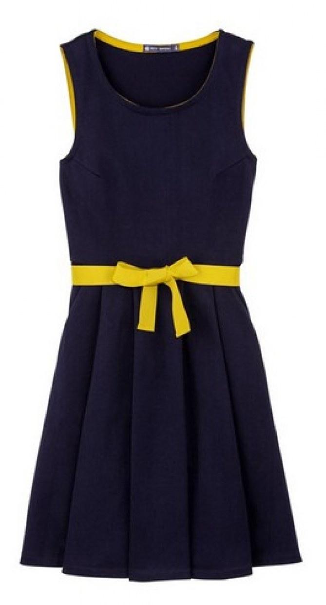Petit Bateau - Robe en jersey épais et noeud coloré