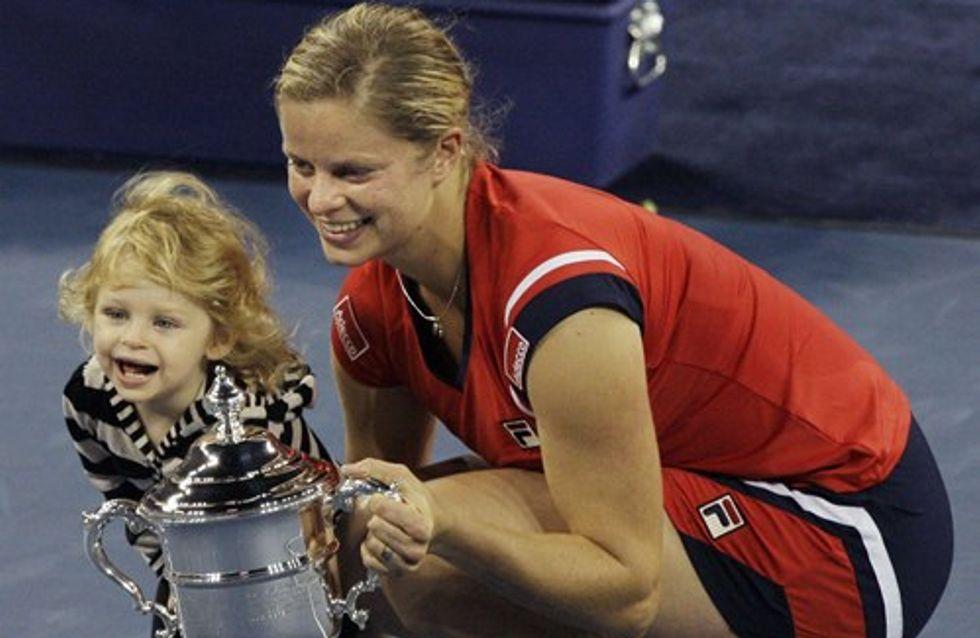 Supermum Kim Clijsters nets Grand Slam victory