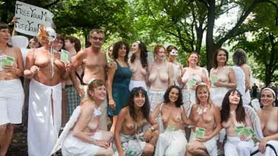Topless campaign for women's right to bare all